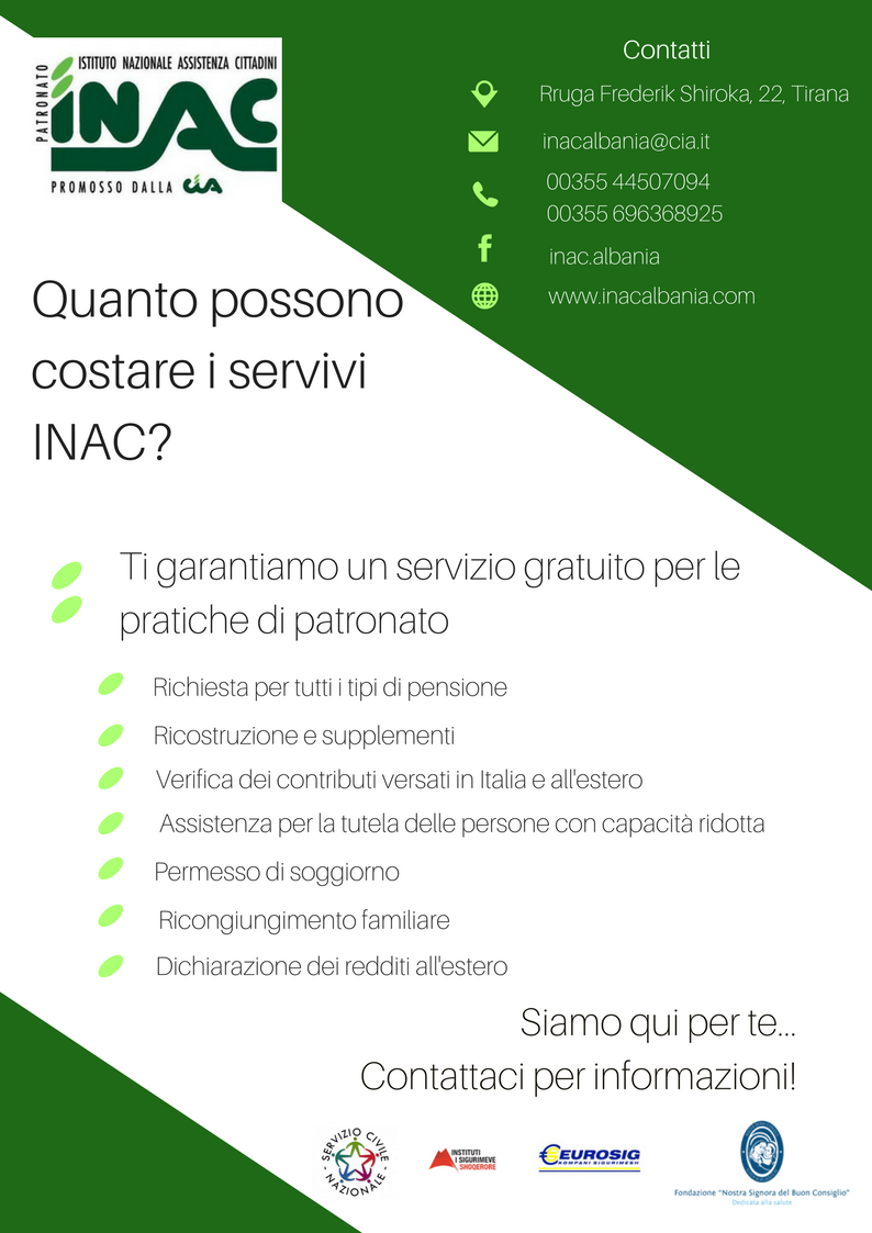 INAC Scheda pensionati